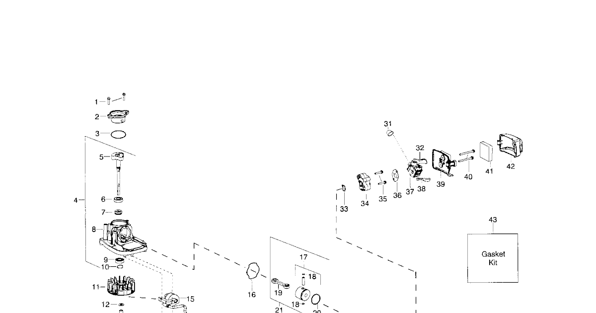 Wiring Diagram: 35 Weed Eater Blower Parts Diagram