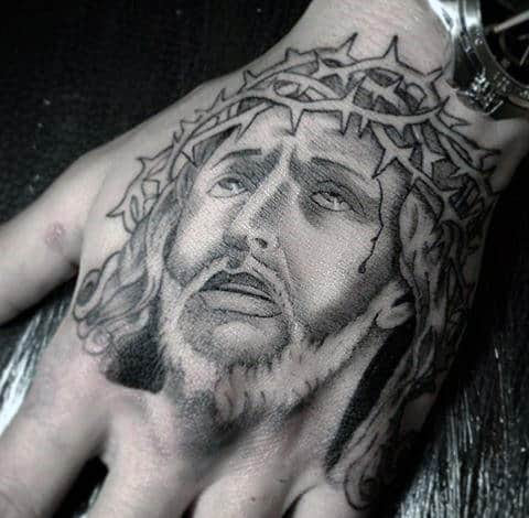 20 Jesus Hand Tattoo Designs For Men Christ Ink Ideas