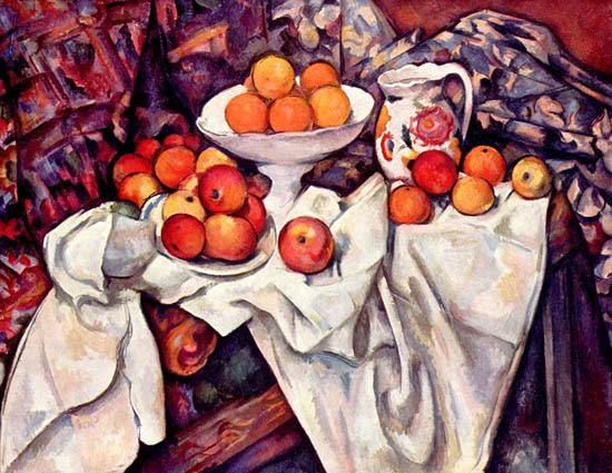 Naturaleza muerta con manzanas y naranjas-paul_cezanne