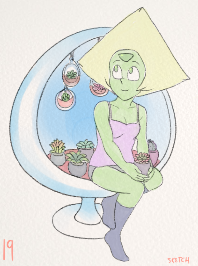 month of Peridot - day 19 you're in my thoughts
