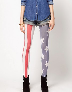 Image 1 of House of Holland for Pretty Polly USA Flag