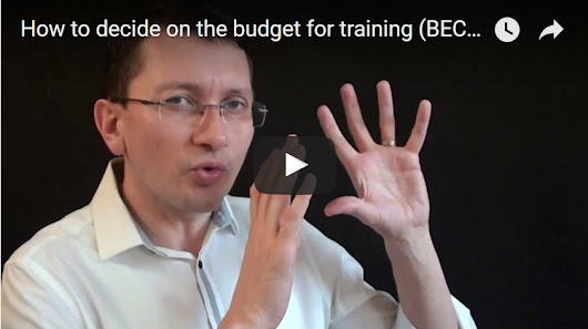 How to decide on the budget for training (BEC Vantage)