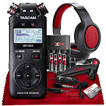 Tascam DR-05X Stereo Handheld Digital Audio Recorder with USB Audio Interface + 16GB + Microphone + Premium Accessories Bundle by PhotoSavings.com
