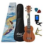 21 inch Mahogany Soprano Ukulele Hawaiian Guitar, Gecko uke full Set / 21 inches