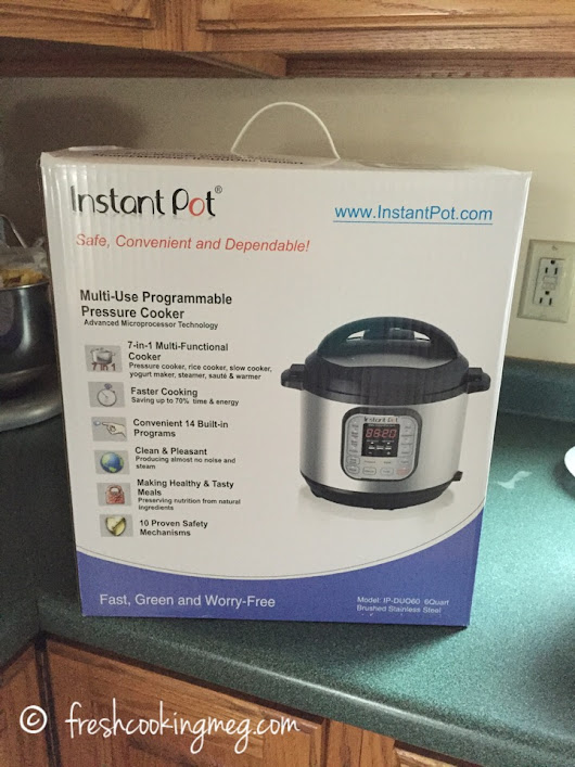 Christmas happened early – my new Instant Pot!  | Fresh Cooking Meg