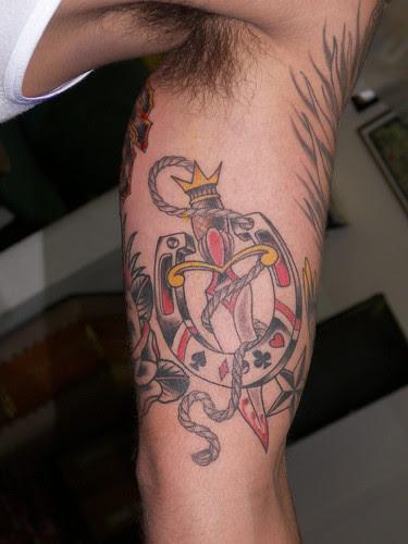 horse shoe dagger · rope · tattoo rob merrill goldfields tattoo studio san