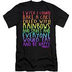 Trevco Sportswear Par707-sf-3 Mean Girls & Rainbows & Cake-Short Sleeve Adult 30 by 1 T-Shirt, Black - Large, Girl's