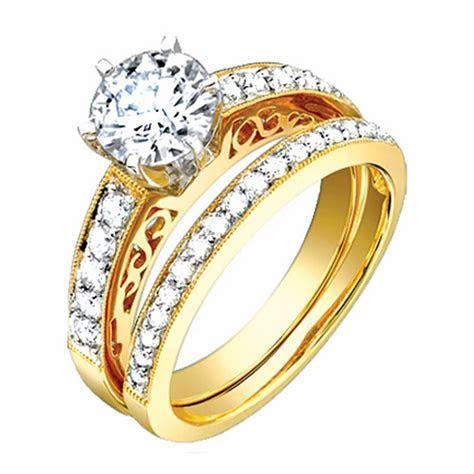 1.3ct TCW 18K Yellow Gold Bridal Ring Set  9003411   Shop