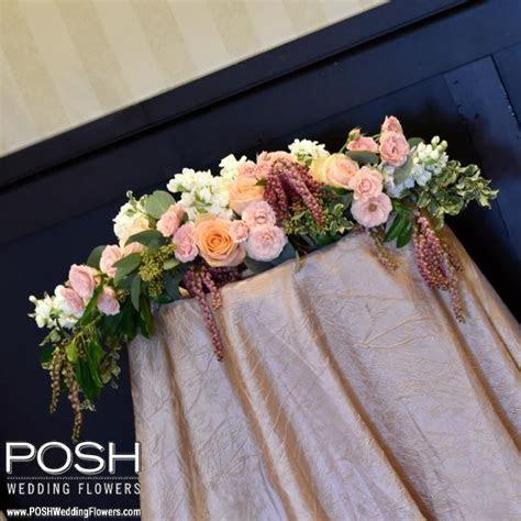 Ceremony Flowers: Long & Low Altar Arrangement   Seattle