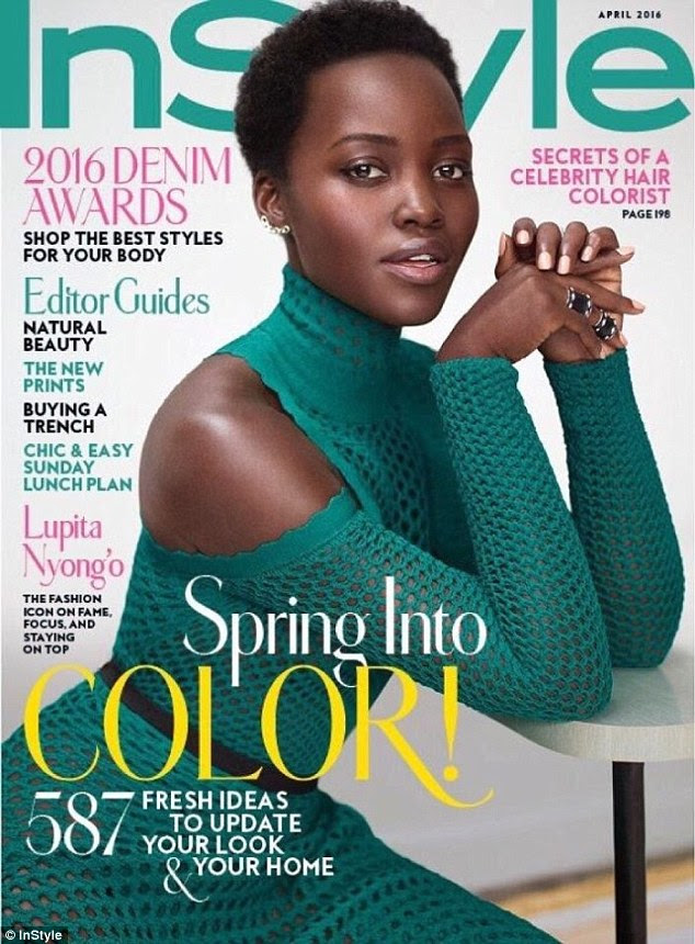 'It was shocking... especially for my mom!' Lupita Nyong'o reveals she shaved her hair off 'on a whim' as she covers InStyle