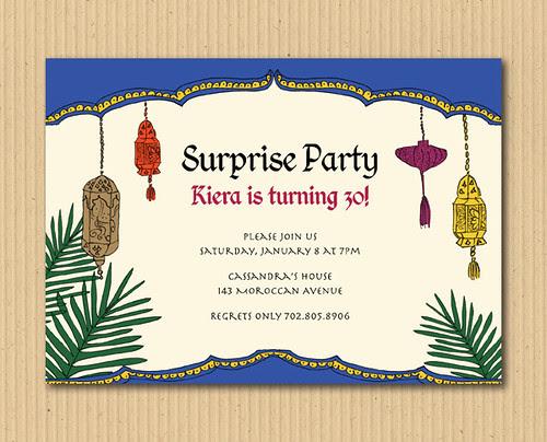 Moroccan Invitation Party Design - DIY Printables