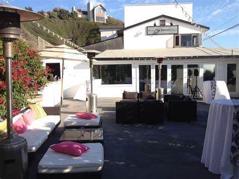 Outdoor Lounge at The Sunset Restaurant   Malibu