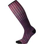 Smartwool Women's Compression Virtual Voyager Print OTC Socks, Mountain Purple, SM
