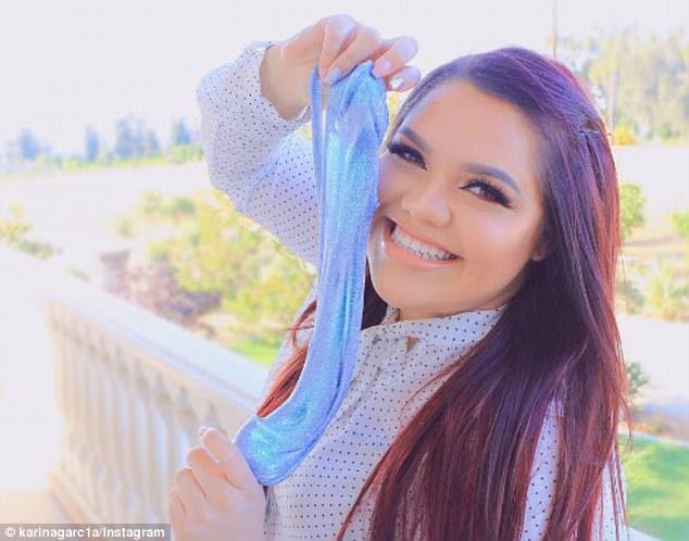 Making it big: Karina Garcia, 23, is now able to support her parents and her siblings on her earnings through YouTube slime videos