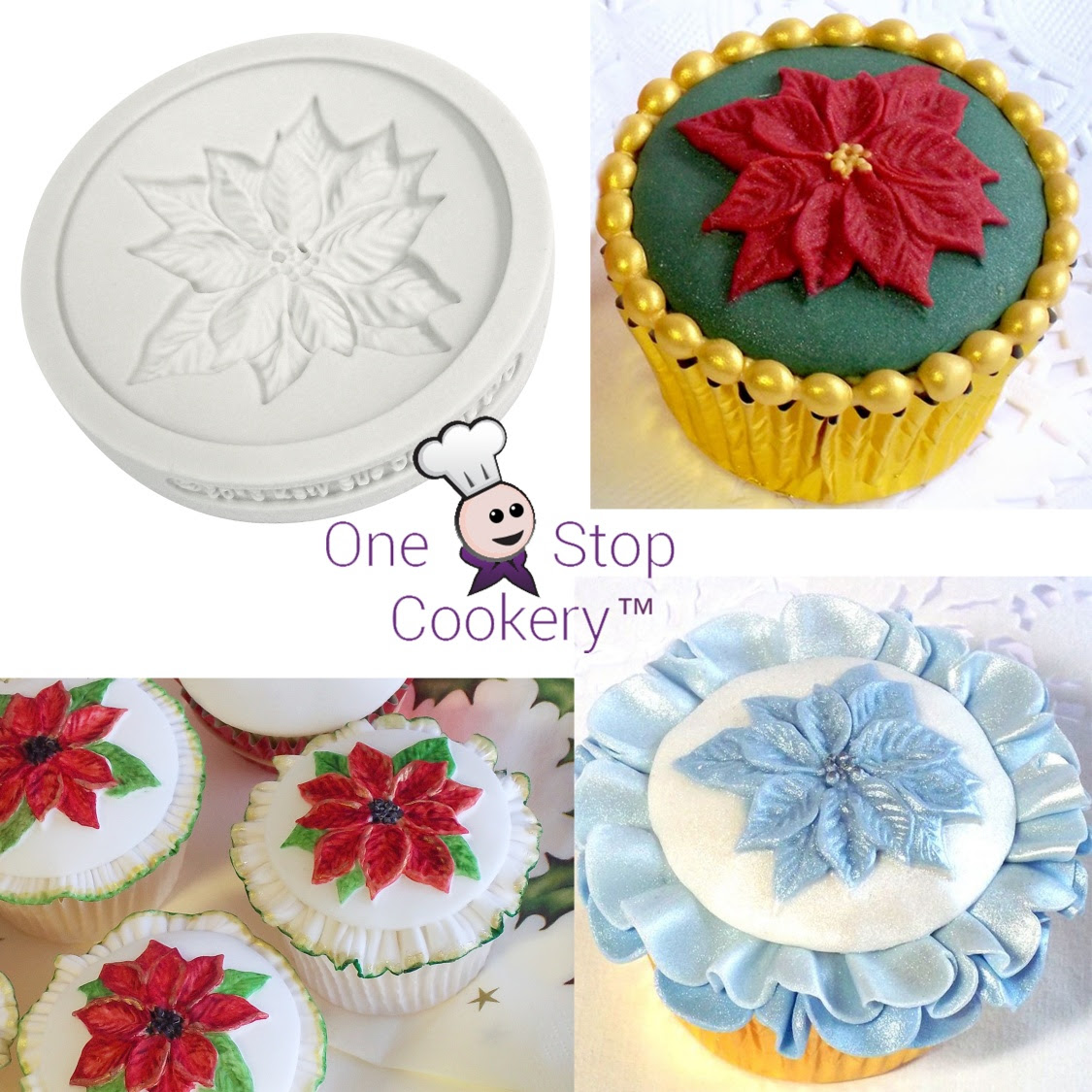Katy Sue Designs Christmas Poinsettia Silicone Mould Baking And Cooking Equipment