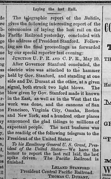 Oakland Daily Transcript, May 12, 1869
