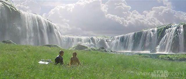 Naboo waterfall