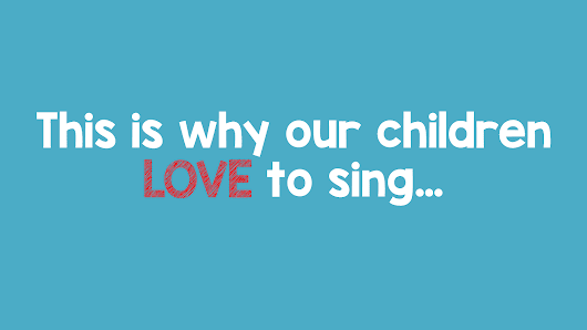 This is why we LOVE to sing...