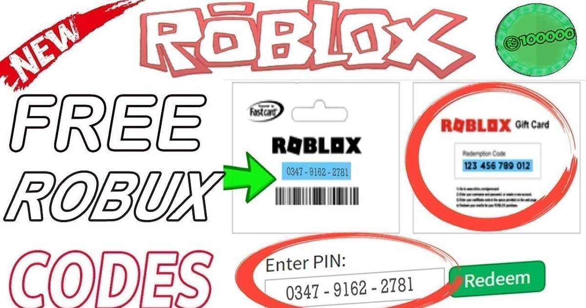 Free Robux Cards 2020