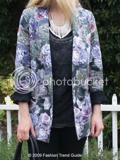 Topshop floral blazer