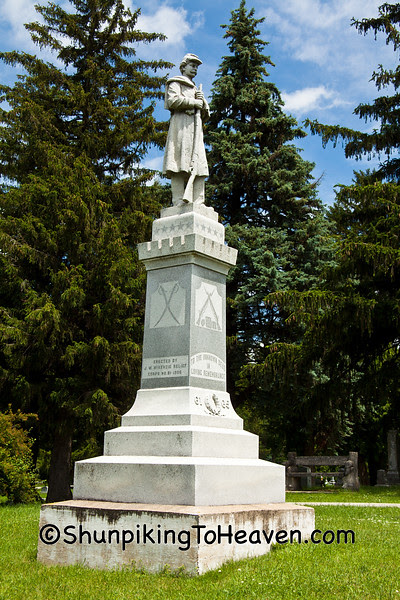 Civil War Memorial, Hampton Cemetery, Hampton, Iowa
