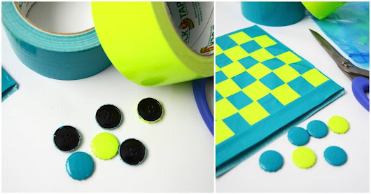 How to make a DIY checkers game - Mod Podge Rocks