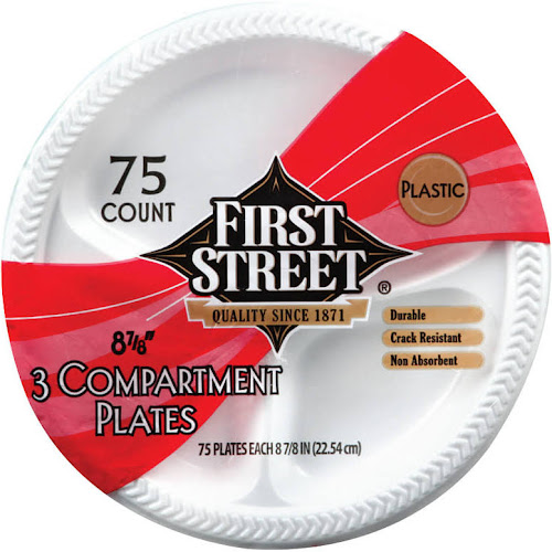Google Express - First Street Plastic 3 Compartment Plates, 8 7/8 ...