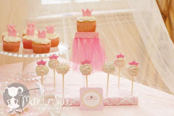 Pink Princess Pastry Pedestal CenterpieceEDITED