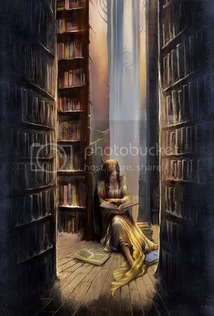 books and fantasy photo: girl and her books book_of_romance_by_breathing2004.jpg