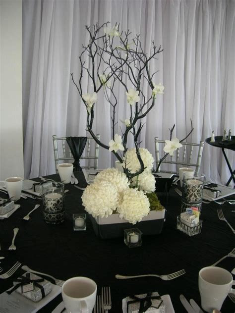 91 best images about black.and.white [centerpieces, flower