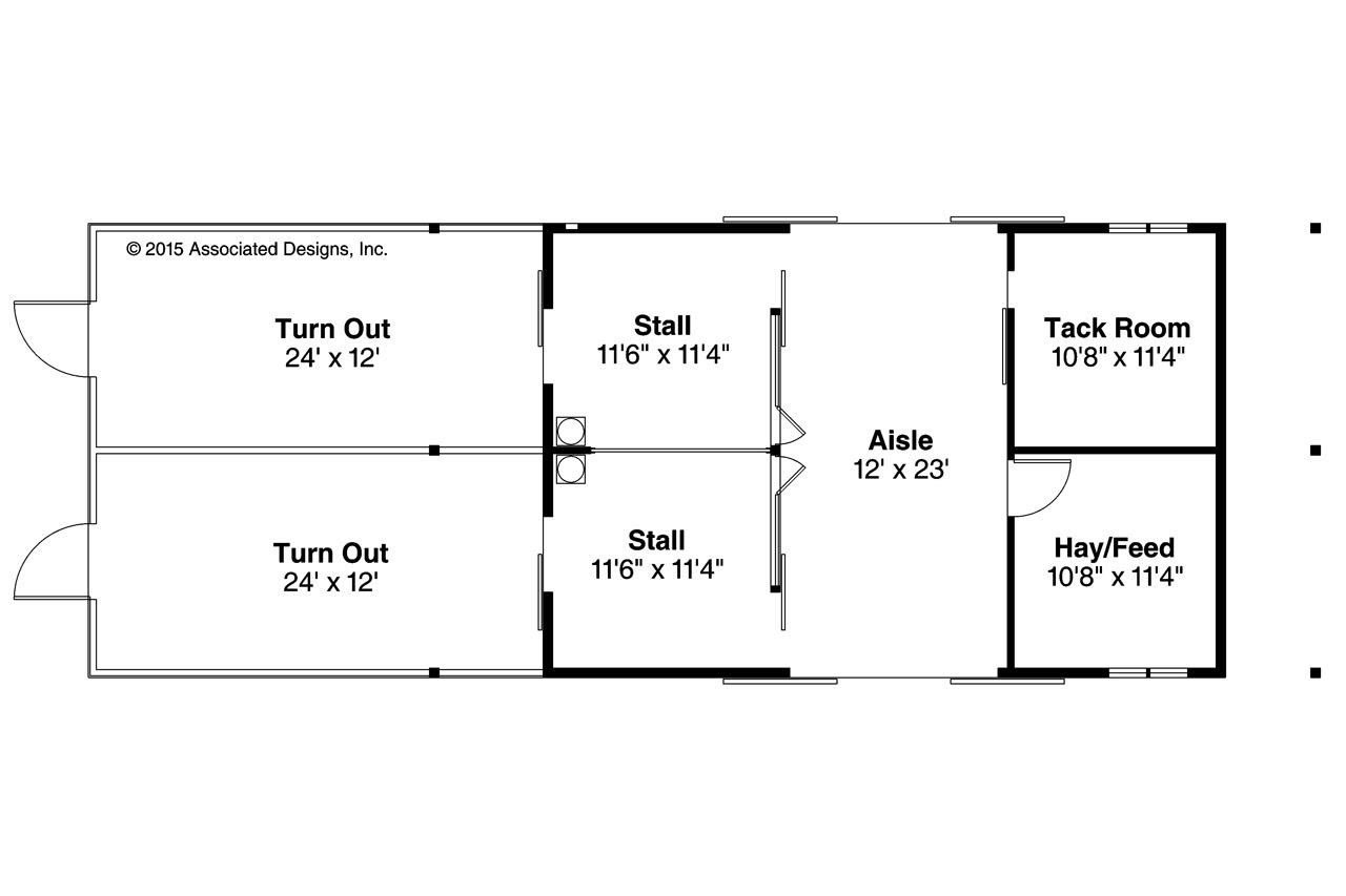 Country House Plans - Barn 20-159 - Associated Designs