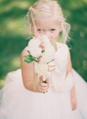 14 Things your flower girl can do/carry/wear down the
