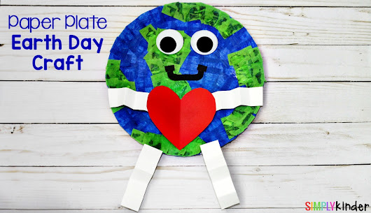 How To Make A Paper Plate Earth Day Craft - Simply Kinder