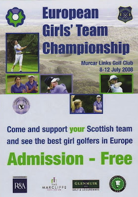 Click on European Girls' Team Championship Poster to enlarge