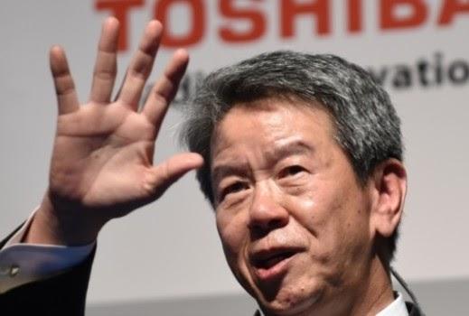 44a2391f206c7 خبرني - اعلن المدير التنفيذي لشركة توشيبا، هيساو تاناكا، استقالته بعدما  كشفت الشركة انها بالغت في في حساب .
