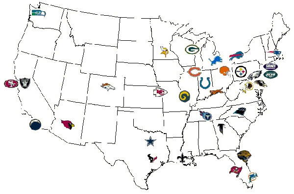 Image Result For Map Nfl