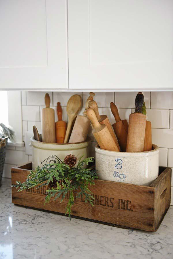 22 Farmhouse-Inspired Kitchen Storage Ideas - Amazing DIY ...