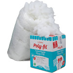 Fairfield 10-Pound Poly-Fil Premium Polyester Fiber White