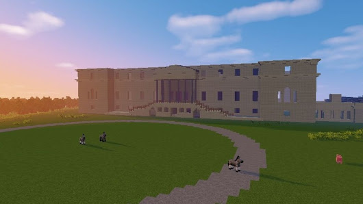 Penicuik House rises from ashes in Minecraft - BBC News