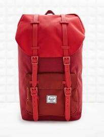 Herschel Rubber Strap Little America Backpack In Burgundy