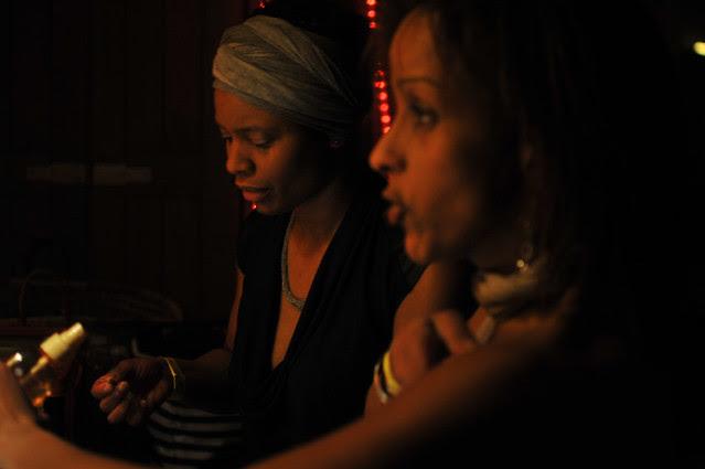 Evry Daily Photo - Concert Ebena - Dans la loge -  Portrait dans le miroir