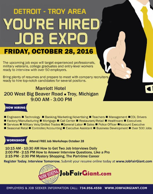 Reminder: Oakland County Job Expo October 28