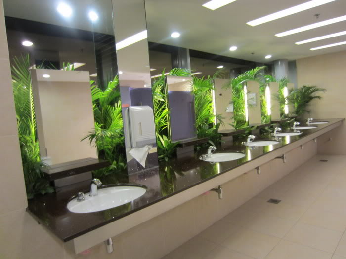 beautiful public toilet changi airport sink