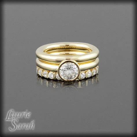 Forever Brilliant Moissanite Three RIng Wedding Set