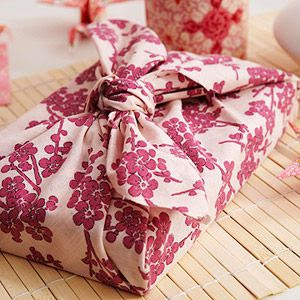 Japanese Gift Wrap    Wrap your child's gift in a piece of fabric using furoshiki, the Japanese art of gift wrap.    Originally published in the May 2011 issue of Parents magazine.    Click here to learn different ways to wrap a gift in a Japanese style