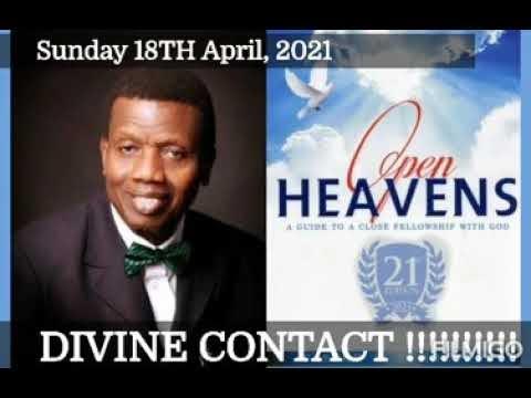 Open Heaven 18 April 2021 – Divine Contact