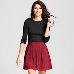 Women's Regular Fit Long Sleeve Crewneck T-Shirt - A New Day Black