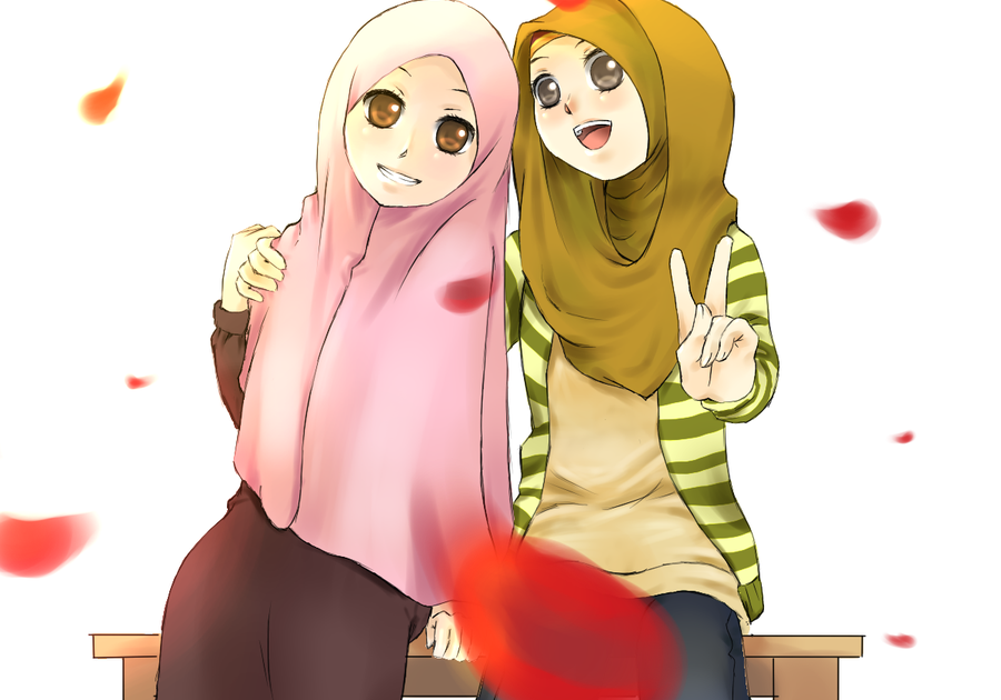 Foto sahabat ber 3 hijab kartun. Foto Profil Wa Hijab Kartun Foto Modis