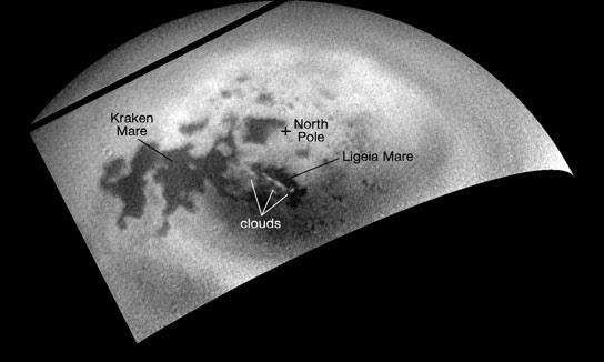 Cassini Tracks Nuvole in via di sviluppo su Titano