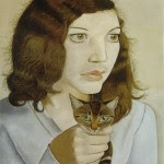 Girl-with-a-Kitten-Lucian-Freud-1947